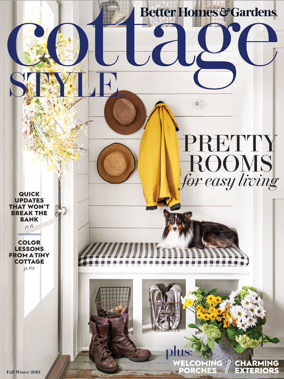 Interior Design Homes Winter 2019: Better Homes & Gardens: Cottage Style