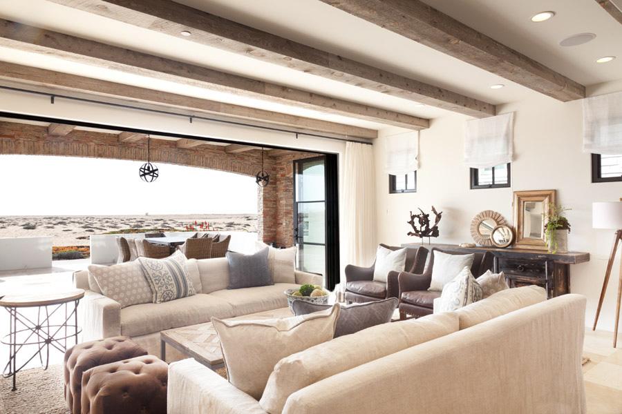 coastal living room or family room