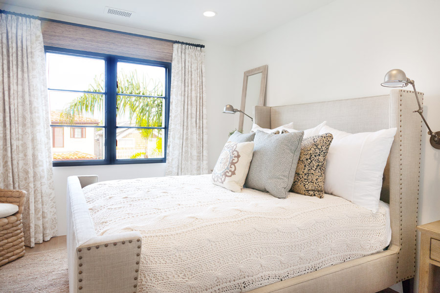 bright and airy guest bedroom